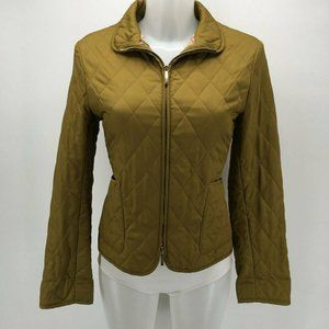 Burberry Green Quilted Jacket Size Small